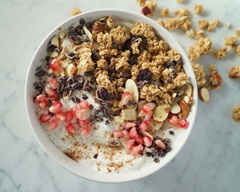 Pomegranate and Granola Yogurt Bowl
